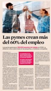 Las Pymes crean más del 60% del empleo